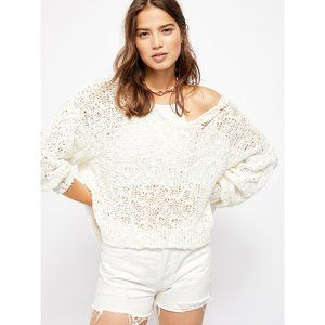 Free People Sunday Shore Pullover Sweater / Ivory